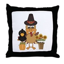 Thanksgiving Friends Throw Pillow