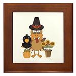 Thanksgiving Friends Framed Tile