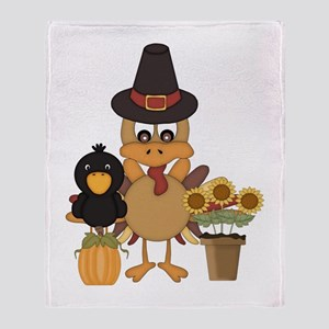 Thanksgiving Friends Throw Blanket