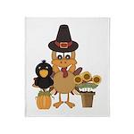 Thanksgiving Friends Throw Blanket