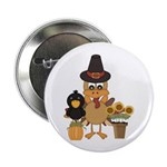 "Thanksgiving Friends 2.25"" Button (100 pack)"