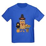 Thanksgiving Friends Kids Dark T-Shirt