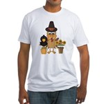 Thanksgiving Friends Fitted T-Shirt
