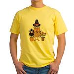 Thanksgiving Friends Yellow T-Shirt