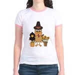 Thanksgiving Friends Jr. Ringer T-Shirt