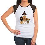 Thanksgiving Friends Women's Cap Sleeve T-Shirt