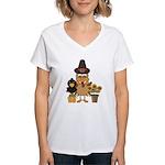 Thanksgiving Friends Women's V-Neck T-Shirt