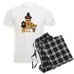 Thanksgiving Friends Men's Light Pajamas