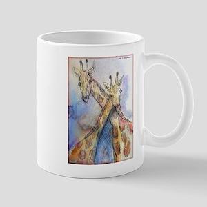 Giraffes, wildlife art, Mug