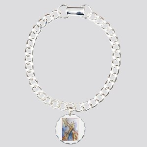 Giraffes, wildlife art, Charm Bracelet, One Charm