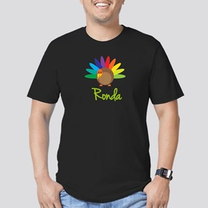 Ronda the Turkey Men's Fitted T-Shirt (dark)