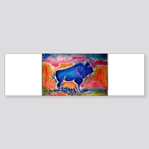 Buffalo,southwest art, Sticker (Bumper)