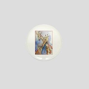 Giraffes, wildlife art, Mini Button