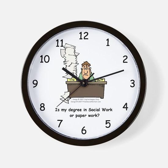 My Degree (Design 1) Wall Clock
