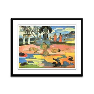 Mahana No Atua, Gauguin Framed Panel Print