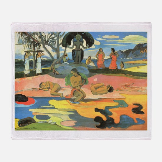 Mahana No Atua, Gauguin Throw Blanket
