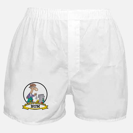 WORLDS GREATEST BUM MEN Boxer Shorts