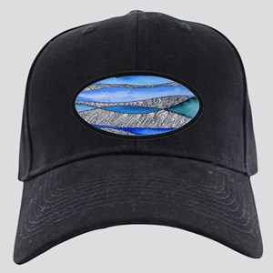 In the deep - blue abstract w Black Cap with Patch