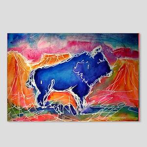 Buffalo,southwest art, Postcards (Package of 8)