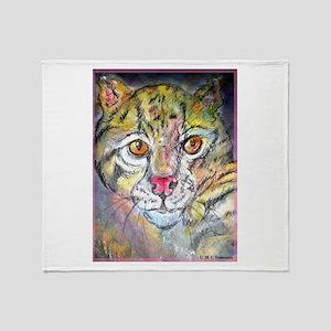 Wild cat, nature art, Throw Blanket