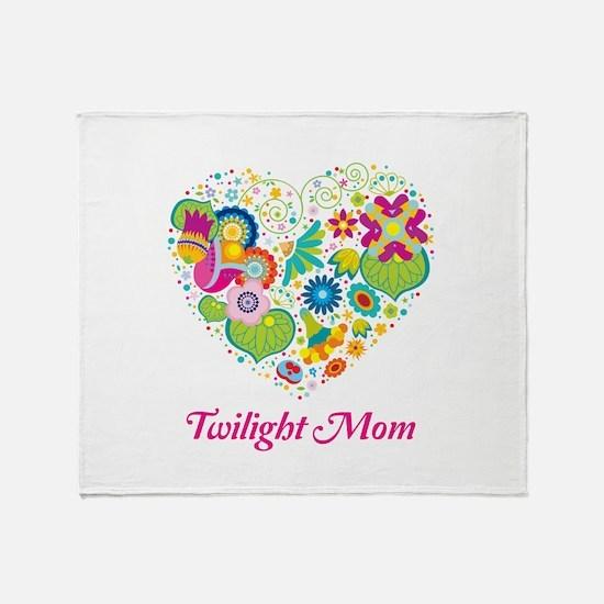 Twilight Mom Floral Heart Throw Blanket