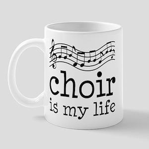Choir is My Life Music Gift Mug