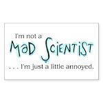 Mad Scientist Sticker (Rectangle 10 pk)