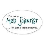 Mad Scientist Sticker (Oval)