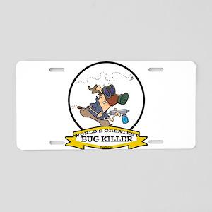 WORLDS GREATEST BUG KILLER Aluminum License Plate