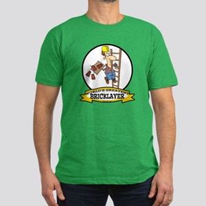 WORLDS GREATEST BRICKLAYER Men's Fitted T-Shirt (d