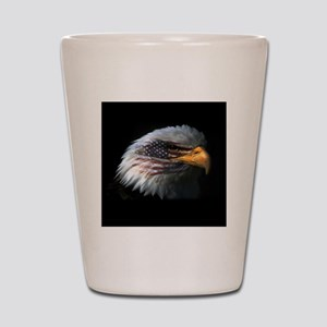 American Flag Eagle Shot Glass