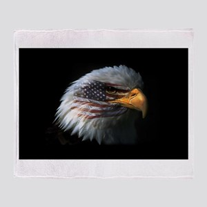 American Flag Eagle Throw Blanket