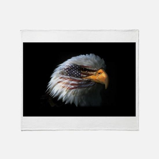 American Flag Eagle Throw Blanket