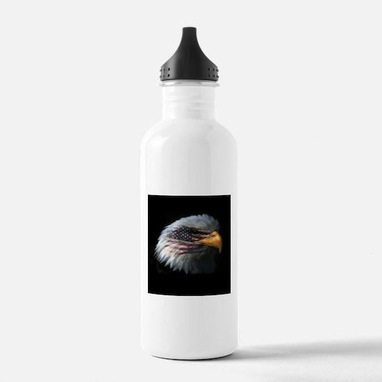 American Flag Eagle Water Bottle