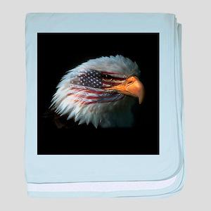 American Flag Eagle baby blanket