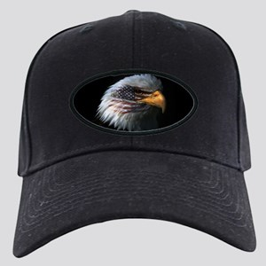 American Flag Eagle Black Cap