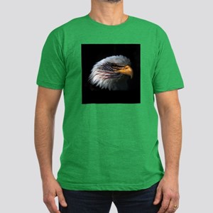 American Flag Eagle Men's Fitted T-Shirt (dark)