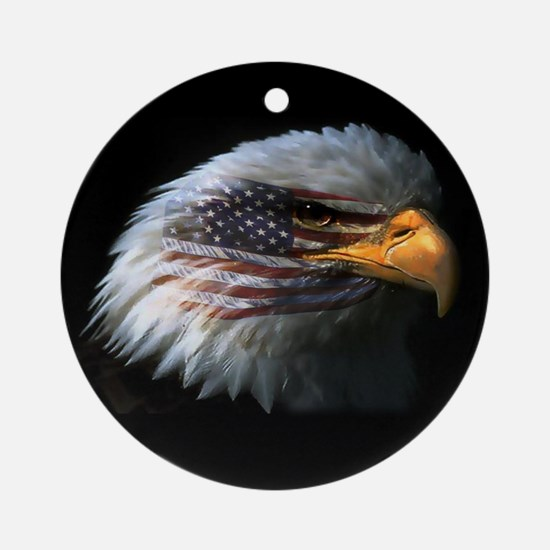 American Flag Eagle Ornament (Round)