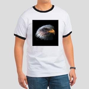 American Flag Eagle Ringer T