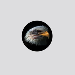 American Flag Eagle Mini Button