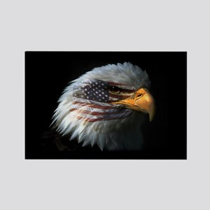 American Flag Eagle Rectangle Magnet