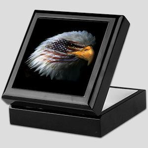 American Flag Eagle Keepsake Box