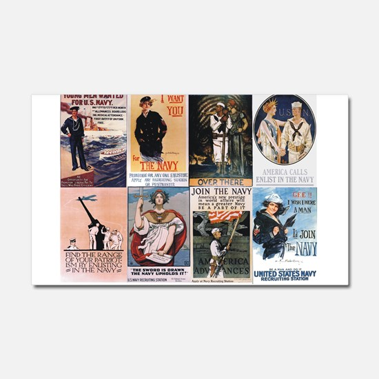 WWI Navy Posters Car Magnet 20 x 12