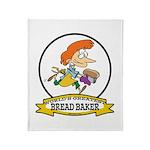 WORLDS GREATEST BREAD BAKER FEMALE Throw Blanket