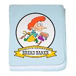 WORLDS GREATEST BREAD BAKER FEMALE baby blanket