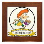 WORLDS GREATEST BREAD BAKER FEMALE Framed Tile