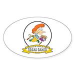 WORLDS GREATEST BREAD BAKER FEMALE Sticker (Oval)