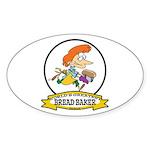WORLDS GREATEST BREAD BAKER FEMALE Sticker (Oval 5