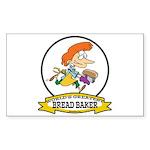 WORLDS GREATEST BREAD BAKER FEMALE Sticker (Rectan
