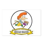 WORLDS GREATEST BREAD BAKER FEMALE Postcards (Pack